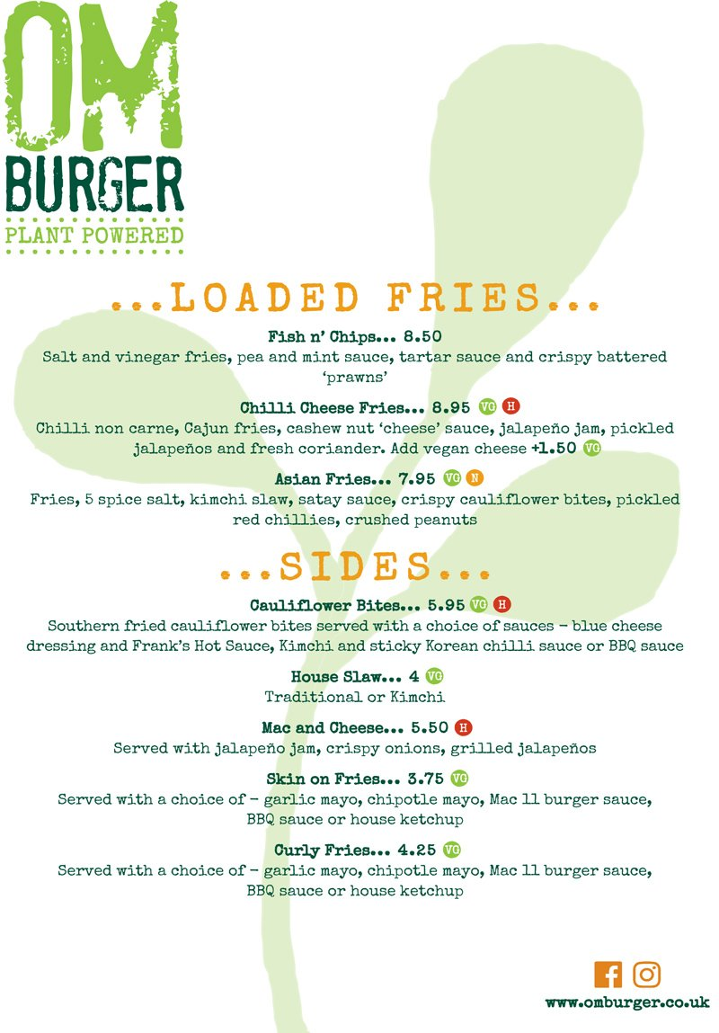 Veganuary 2021 Main Menu - Page 2 @ Om Burger Bristol